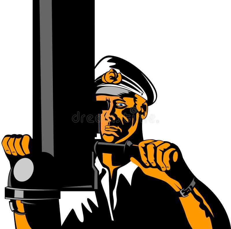 Capitão submarino ilustração do vetor