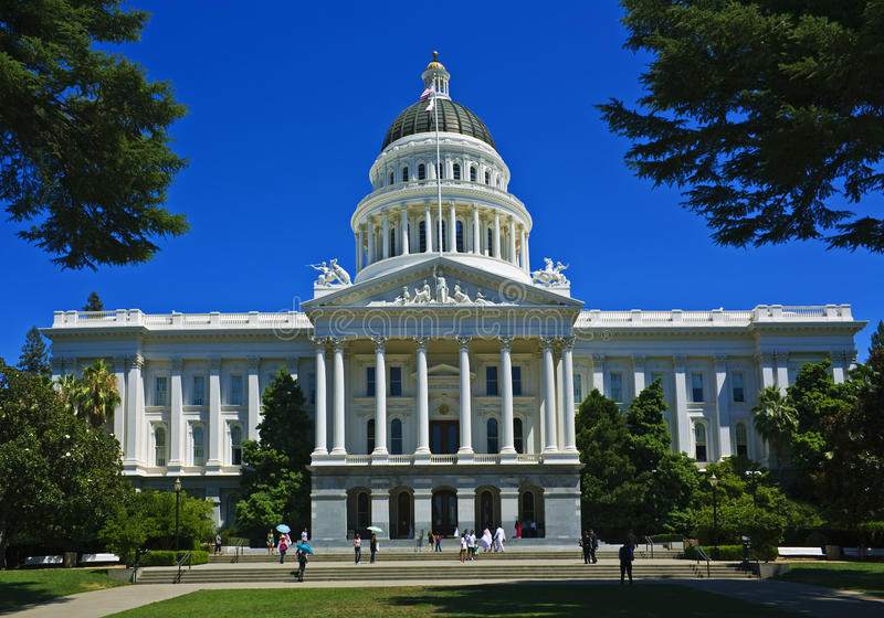 Capitólio de Califórnia, Sacramento imagem de stock