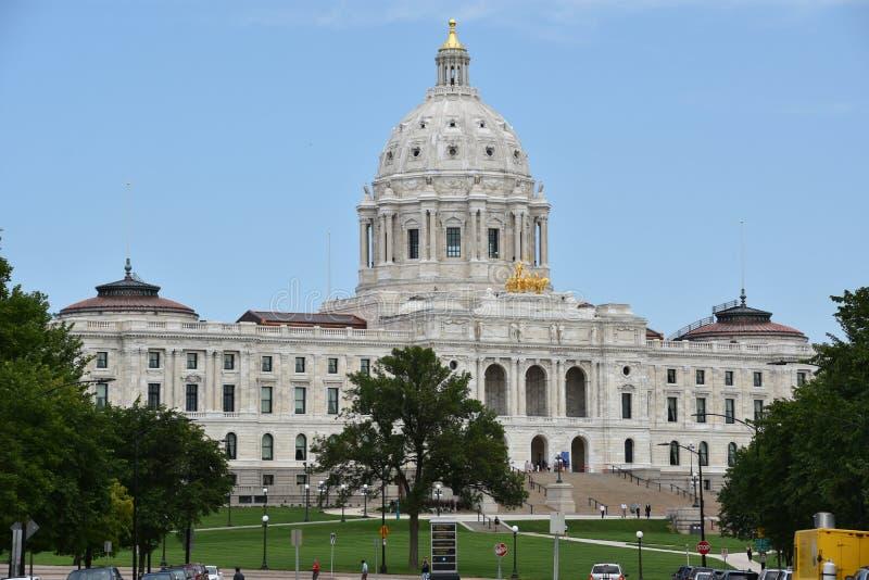 Capitólio do estado de Minnesota em St Paul imagens de stock