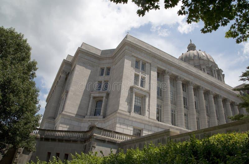 Capitólio do estado de Missouri na cidade Jefferson MO EUA fotografia de stock
