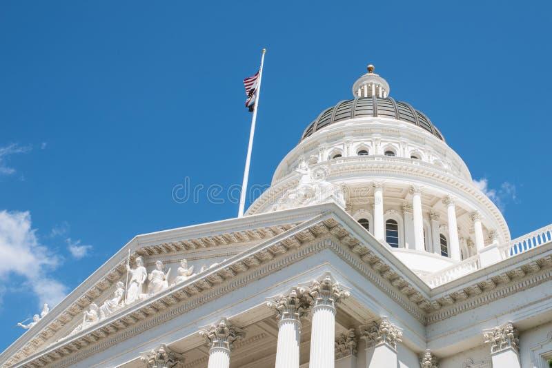 Capitólio do estado de Sacramento Califórnia imagens de stock