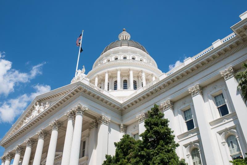 Capitólio do estado de Sacramento de Califórnia fotos de stock royalty free
