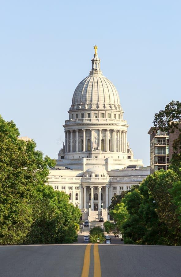 Capitólio do estado de Wisconsin em Madison fotografia de stock