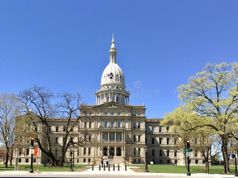 Capitólio do estado do Michigan fotografia de stock