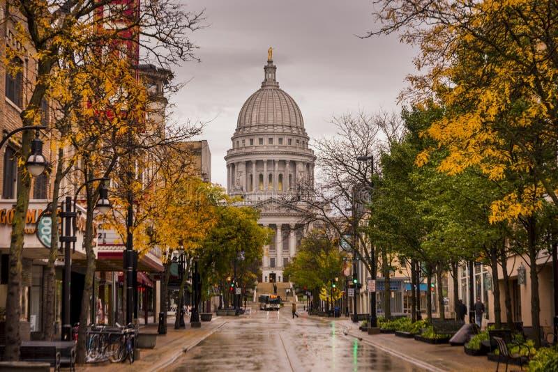 Capitólio do estado em Madison, Wisconsin imagem de stock royalty free