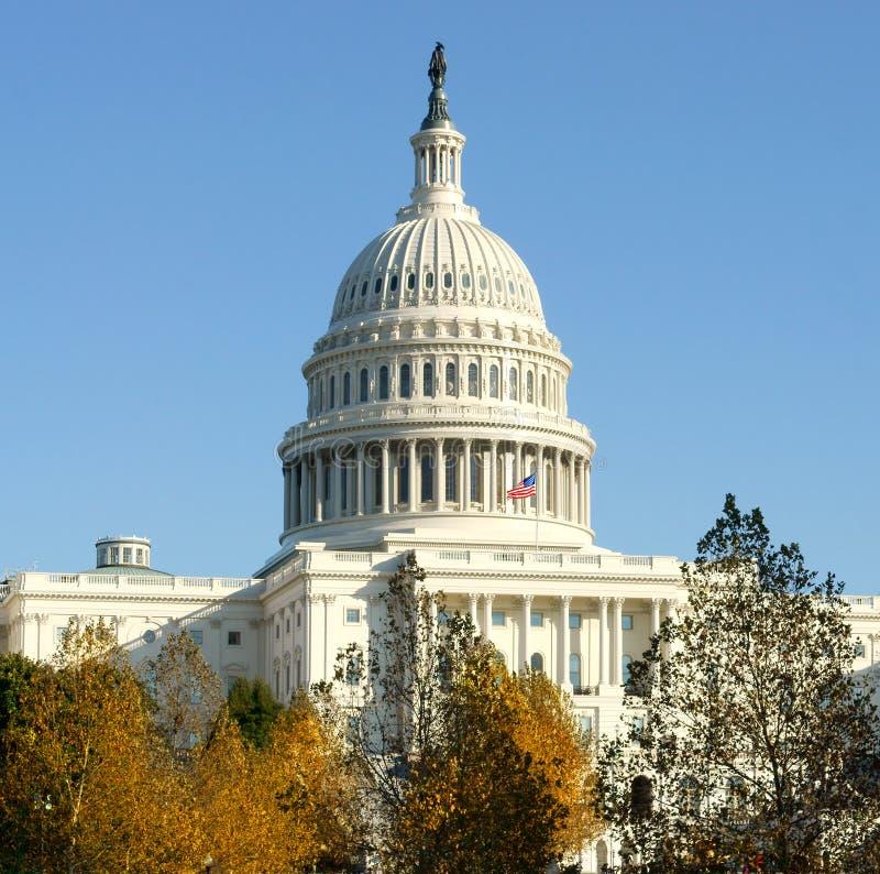 Capitólio do Estados Unidos, casa do congresso de Estados Unidos e assento do ramo legislativo de U S o governo federal, em Capit imagem de stock