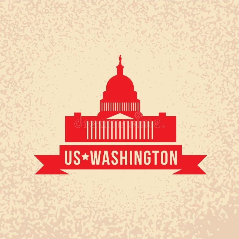 Capitólio do Estados Unidos - o símbolo de E.U., Washington DC ilustração royalty free