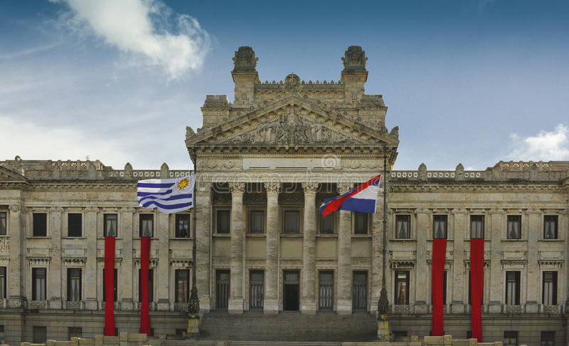 Capitólio, Montevideo Uruguai foto de stock