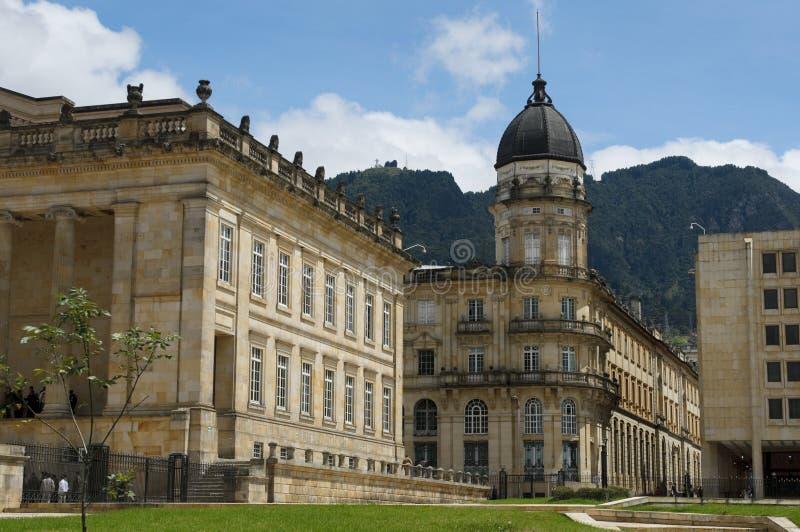 Capitólio nacional, Bogotá, Colômbia imagem de stock royalty free