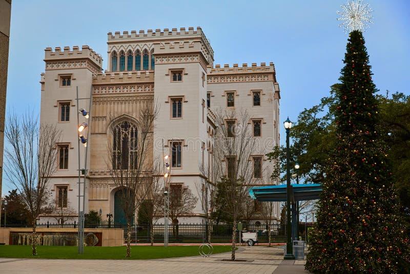 Capitólio velho Baton Rouge E.U. do estado de Louisiana foto de stock royalty free