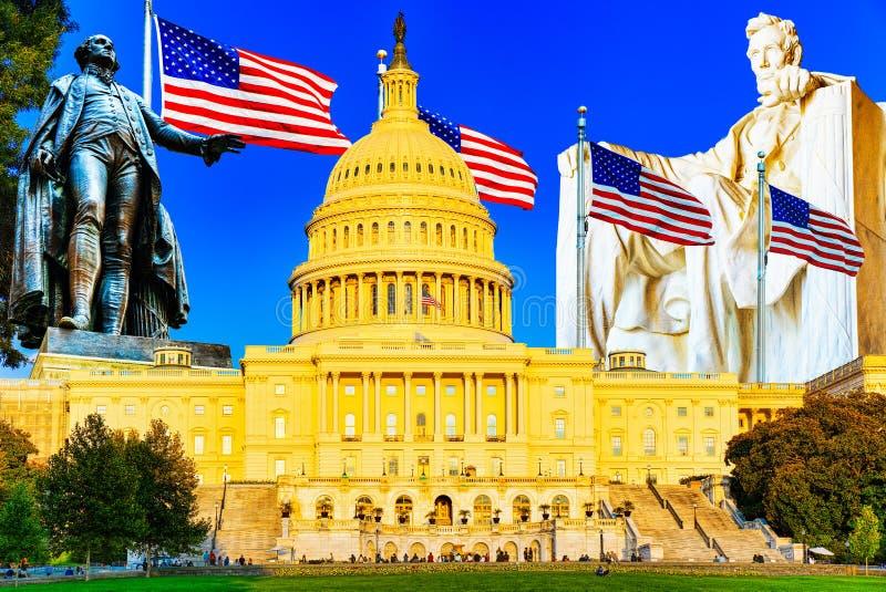 Capit?lio do Estados Unidos, constru??o do Capit?lio, casa do congresso de Estados Unidos, ramo legislativo do U S fotografia de stock royalty free
