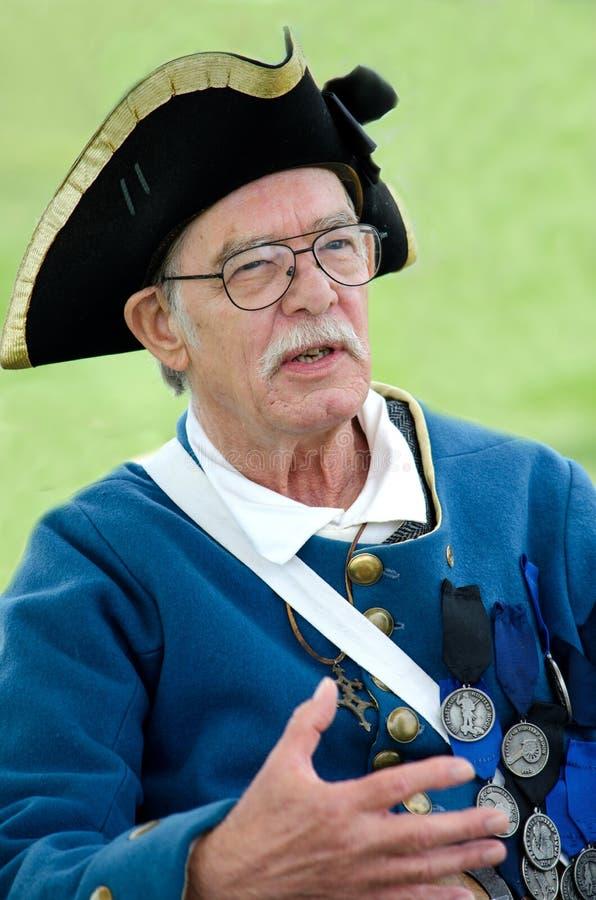Capitaine de la marine marchande de temps d'histoire image libre de droits
