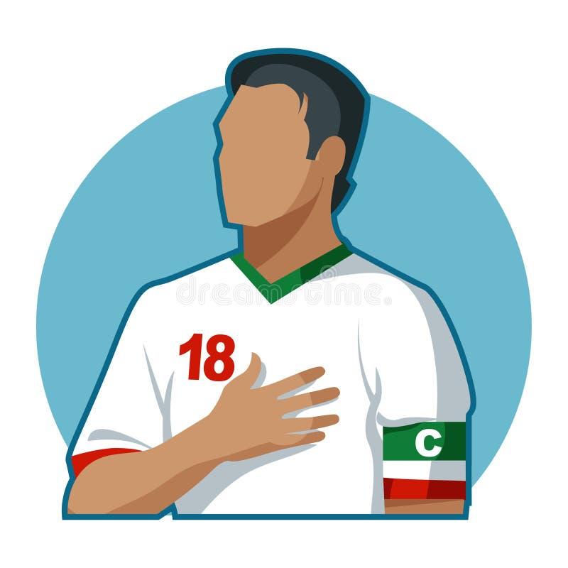Capitaine du football image libre de droits