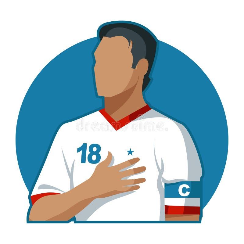 Capitaine du football images libres de droits