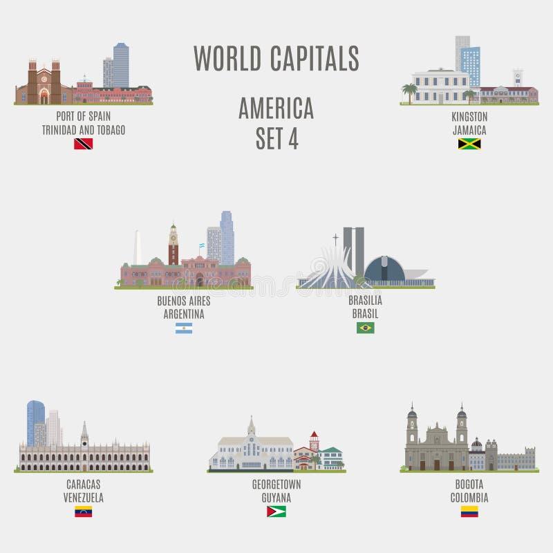 Capitais do mundo ilustração royalty free
