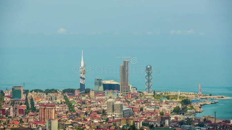 Capital of Adjara, Batumi. Skyline of Batumi. The capital of Adjara, Georgia royalty free stock photo