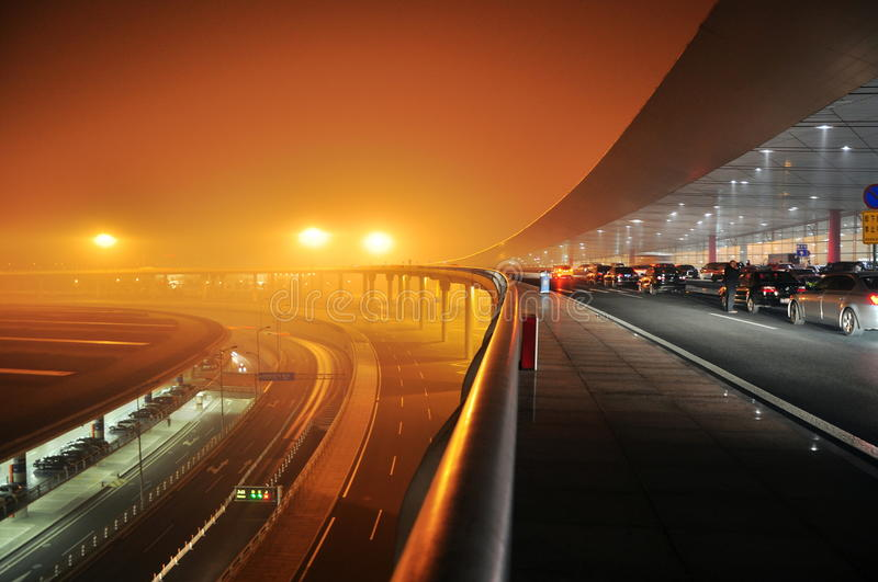 Download The capital airport stock photo. Image of bright, night - 33121904
