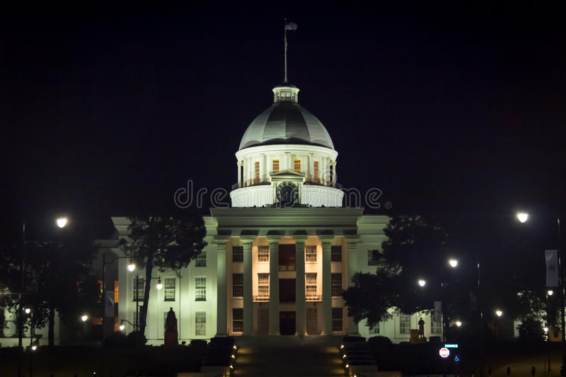 Capital of Alabama - Montgomery. Historic Montgomery, Alabama where individuals fight for justice and equal rights. Most notably in history the march from Selma royalty free stock photo