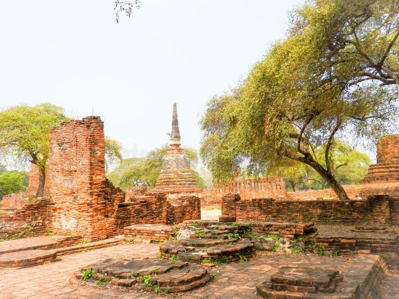 Capital anterior de Ayutthaya do reino de Sião fotografia de stock royalty free