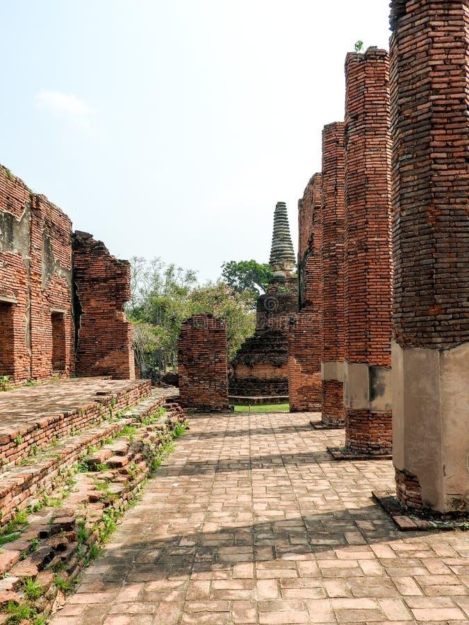 Capital anterior de Ayutthaya do reino de Sião fotos de stock