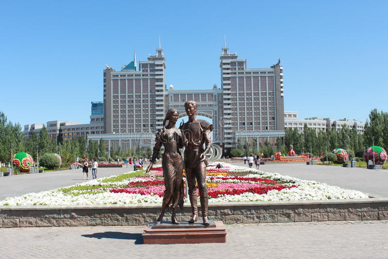 Capital of Astana. The capital of Kazakhstan - Astana. Monument lovers. My happiness royalty free stock photography