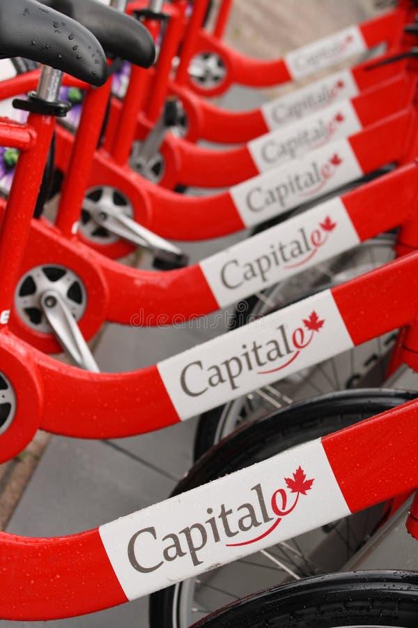 Capital BIXI Bicycles royalty free stock photography
