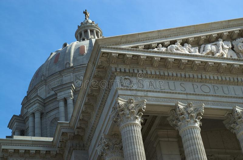 Capital Building. Detail, Jefferson City Missouri royalty free stock image