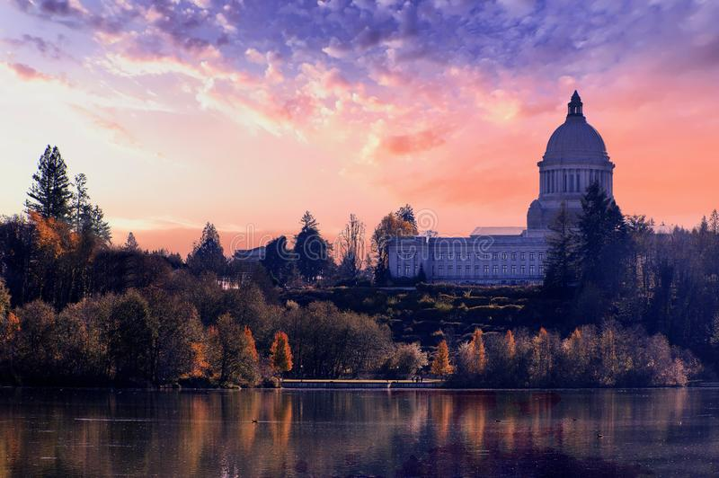 Washington State Capital Building Olympia Washington stock photo