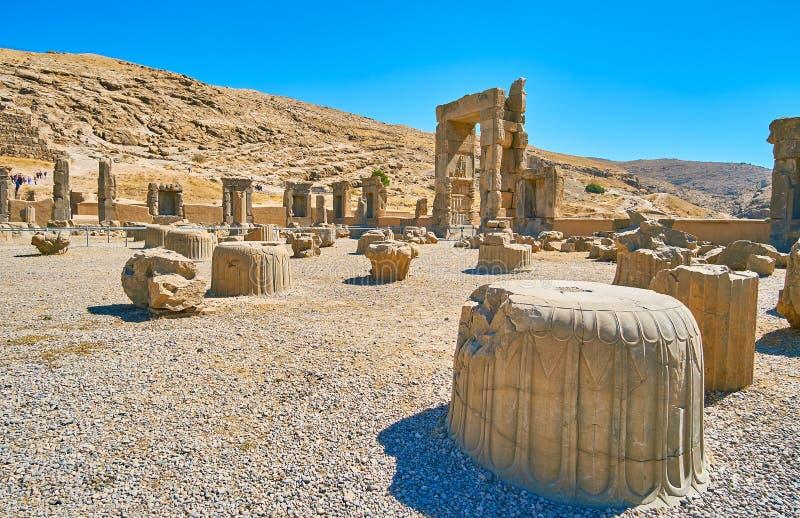 Capital ceremonial de Persia antigua foto de archivo