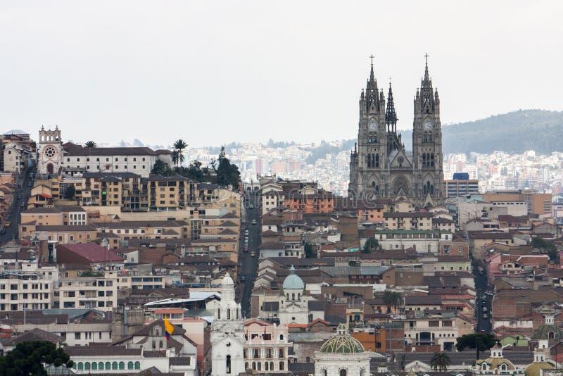 Capital City of Quito Ecuador stock image