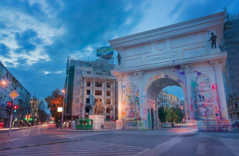 Capital City of Skopje, Macdeonia stock image