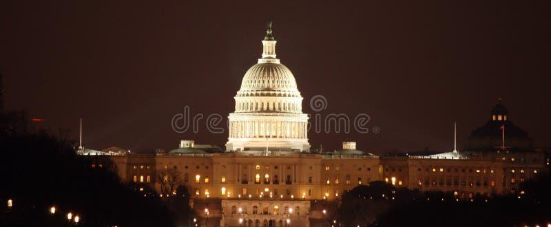 Capital da C.C. na noite foto de stock