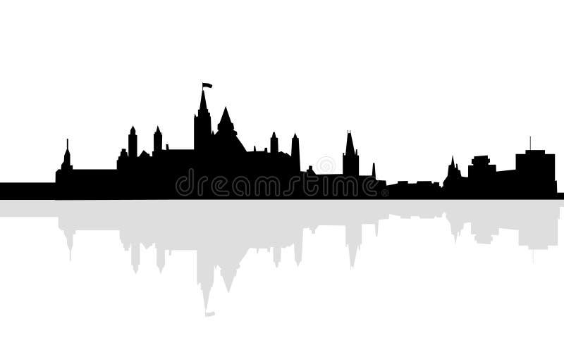 Capital da skyline Ottawa de Canadá ilustração royalty free
