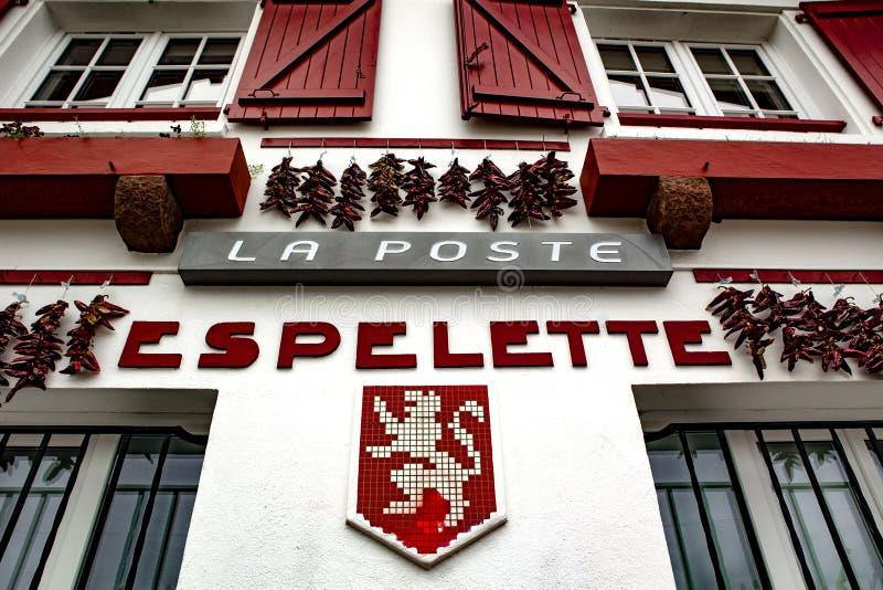 Capital de Espelette de Chili Peppers vermelho imagem de stock
