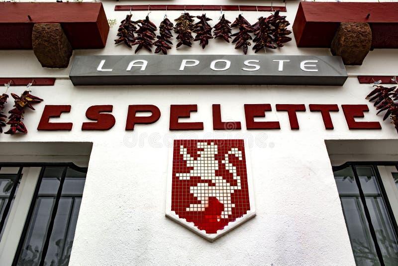 Capital de Espelette de Chili Peppers vermelho fotos de stock