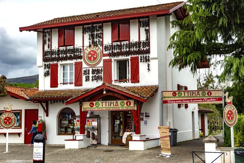 Capital de Espelette de Chili Peppers vermelho imagens de stock
