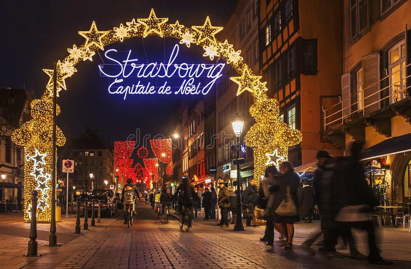 Capital de Noël de Strasbourg photo stock