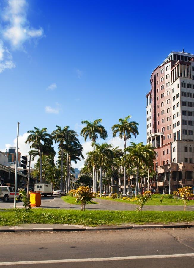 Capital de Port Louis de Mauricio fotos de archivo