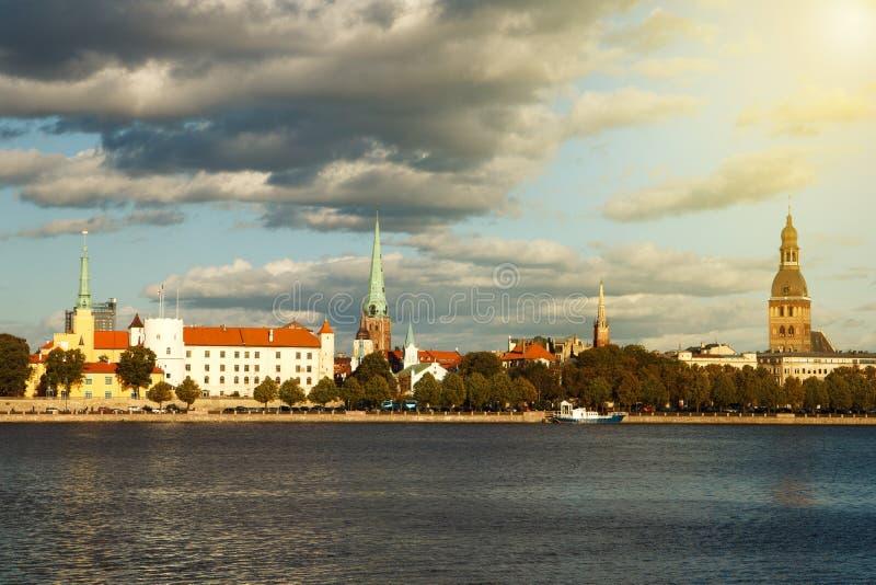 Capital de Riga de la Lettonie photographie stock libre de droits