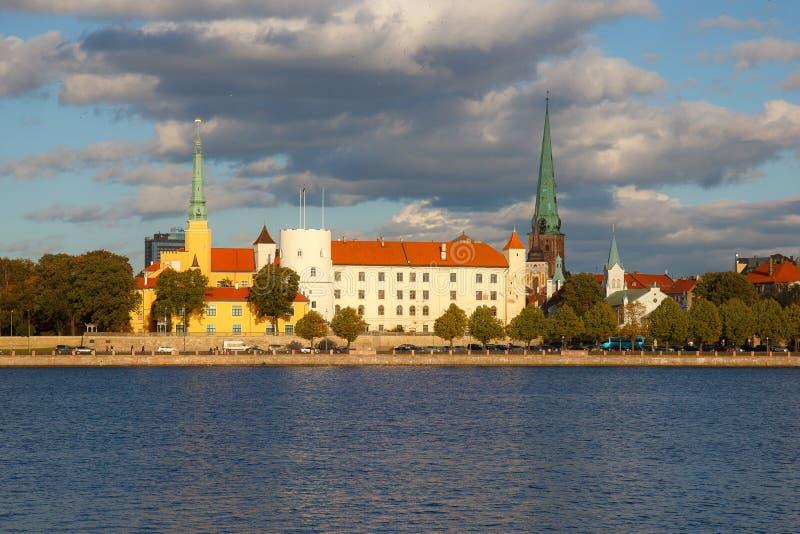 Capital de Riga de la Lettonie image libre de droits
