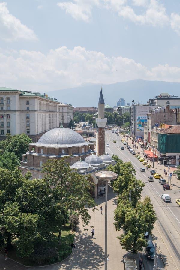 Capital de Sófia, Bulgária do centro imagens de stock