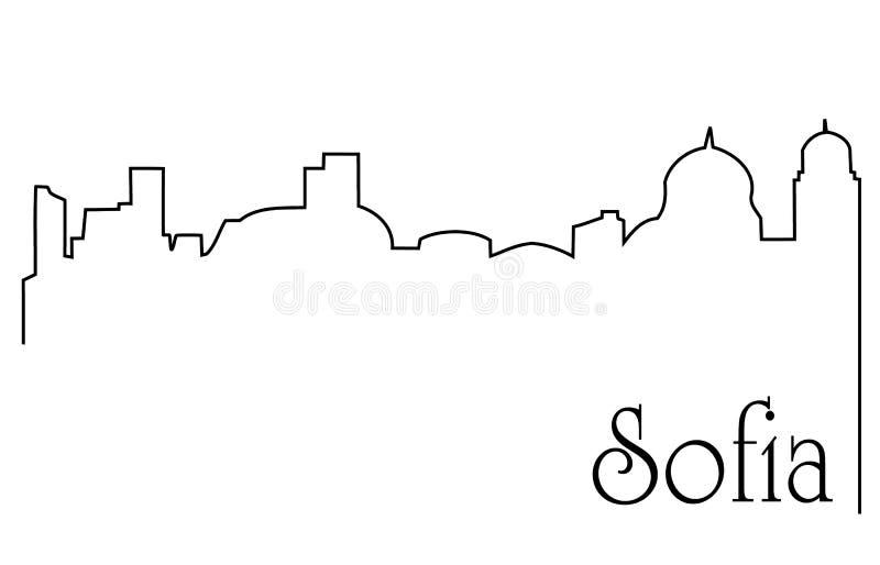 Capital de Sofía stock de ilustración