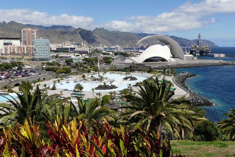 Capital de Tenerife, cruz de Sande imagem de stock royalty free