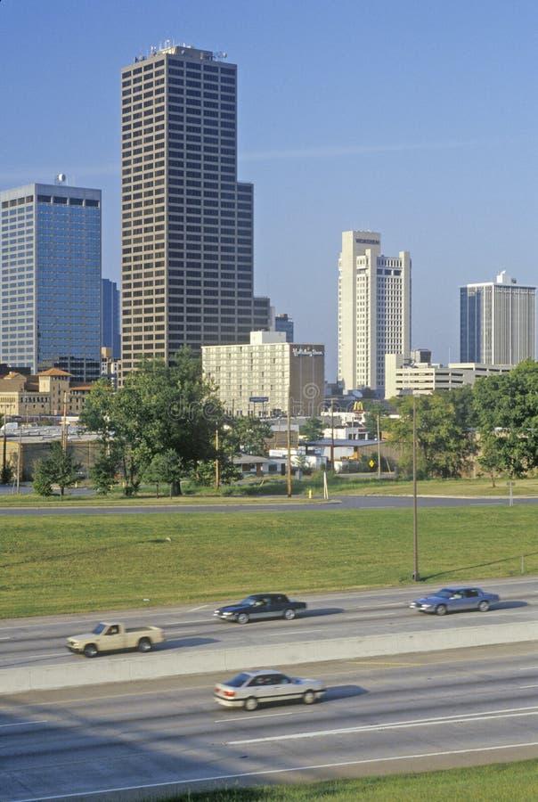 Capital del Estado y horizonte en Little Rock, Arkansas imagenes de archivo