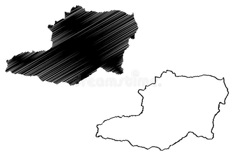 Capital District Venezuela map vector vector illustration