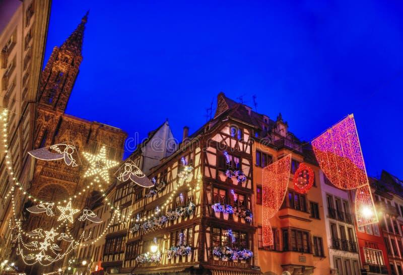 Capital do Natal de Strasbourg imagens de stock