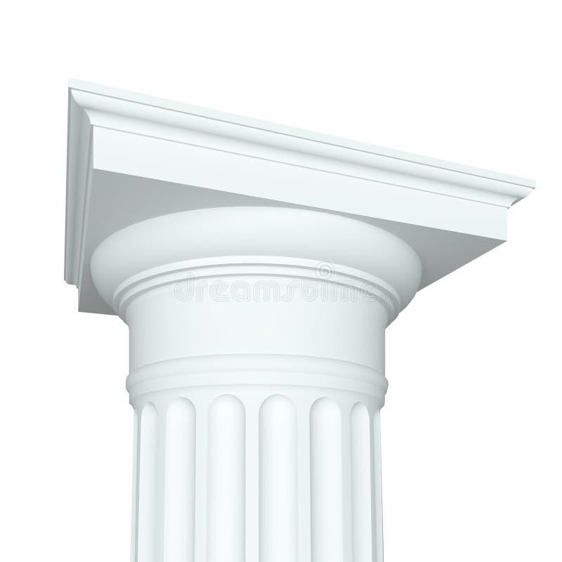 Capital Doric ilustração royalty free