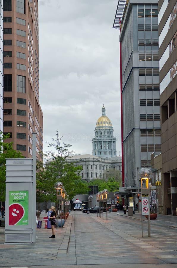 Capital du Colorado à Denver du centre image stock