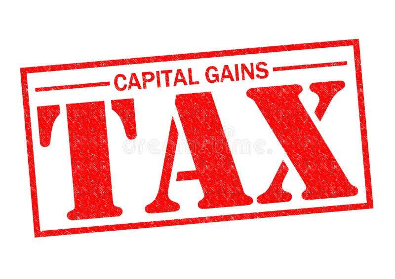 CAPITAL GAINS TAX royalty free illustration