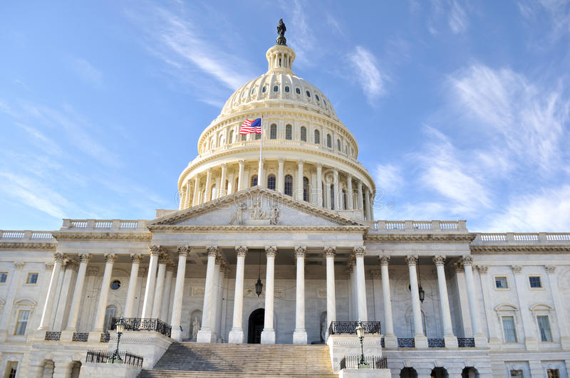 Capital Hill Building. Capital Building in Washington DC ,front view stock photography